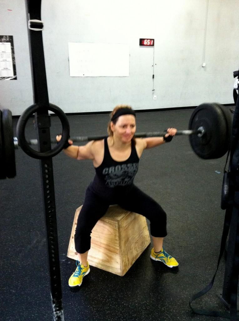 Me doing a Box Back Squat