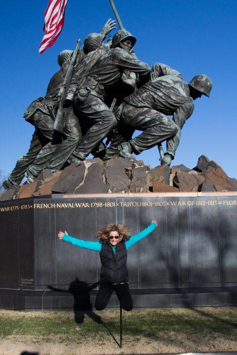Jump at Iwo Jima