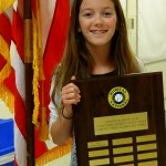 Presenting the Ruritan Citizenship Award Recipient: My Daughter