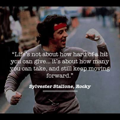 Rocky Quote: Keep Moving Forward