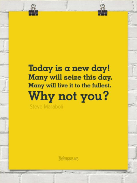 It's A New Day - Quote
