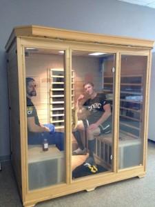Sauna time at Highbar CrossFit