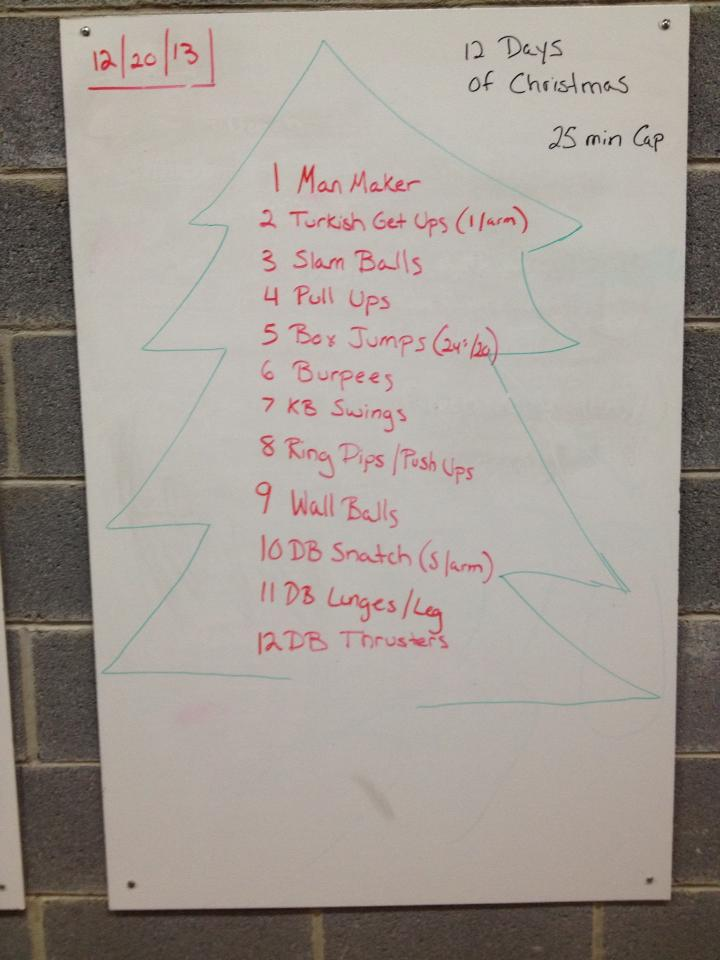 12 Days Of Christmas Crossfit Wod.Christmas Archives Live Fit And Sore