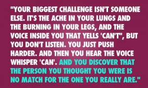 You are your biggest challenge